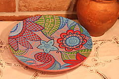 Nádoby - Drevený hlboký tanier /misa/ HIPPIE - 12854262_
