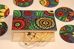 Krabičky - Drevená šperkovnica DETI KVETOV - 12854650_