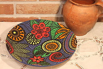 Nádoby - Drevená ručne maľovaná misa DETI KVETOV - 12854054_