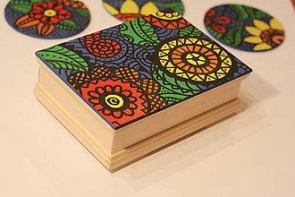 Krabičky - Drevená šperkovnica DETI KVETOV - 12854656_