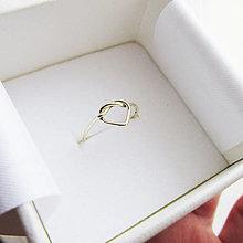 Prstene - MiniMe_Uzlík Srdiečko (Žlté zlato Au585) - 12853657_