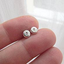 Náušnice - MiniDots - strieborné napichovacie náušnice (Personal 4-5mm / vysokoleštené) - 12853660_