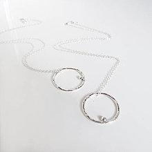 Prstene - MiniMe / Basic (Moon Eclipse tepaný prívesok / s guličkou) - 12853685_