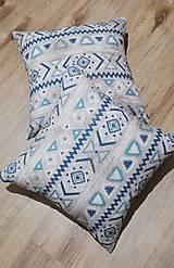 Úžitkový textil - Dekoračné obliečky na vankúše - tyrkys - 12854724_