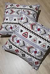 Úžitkový textil - Dekoračné obliečky na vankúše - bordó - 12854730_