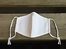 Rúška - biele rúško veľkosť S - 12852981_