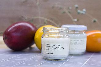 Svietidlá a sviečky - Vonná sojová sviečka - Tropická zmes - 12854943_