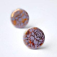 Náušnice - Napichovacie náušnice kvety / Pecky gold - 12855367_
