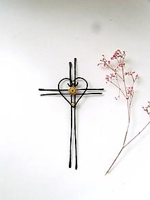 """Dekorácie - krížik na stenu """"Nádej"""" *19cm - 12852117_"""