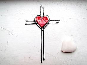 Dekorácie - Krížik tepaný * 19 cm - 12852807_