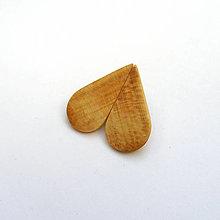 Náušnice - Drevené naušnice klipsňové - čerešňové slzy - 12854874_