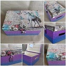 Krabičky - VEĽKÁ masívna drevená krabica - 12857762_
