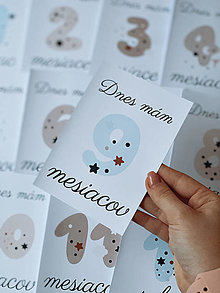 Detské doplnky - Mílnikové kartičky pastelové - 12855605_