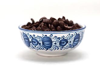 Nádoby - Modrá maľovaná miska - 12855849_