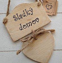 Tabuľky - Tabuľka na dvere so srdiečkom - 12855939_