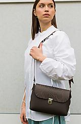 Veľké tašky - kožená kabelka_veľká - 12856835_