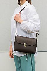 Veľké tašky - kožená kabelka_veľká - 12856836_