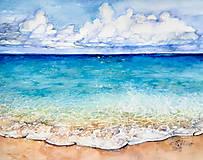 "Obrazy - Akvarelový obraz ""La Meer"" - 12858978_"