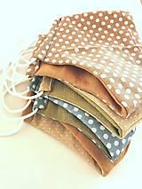 Rúška - Rúško dvojvrstvové bavlna/ľan - 12856934_