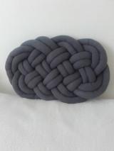Úžitkový textil - CLOUD vankúšik  (Tmavá šedá) - 12856645_