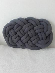Úžitkový textil - CLOUD vankúšik  (Tmavá šedá) - 12856659_