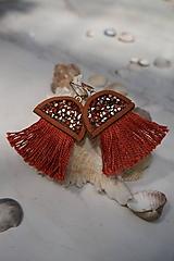Náušnice - Medúzy hnedé - 12858720_