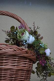 Ozdoby do vlasov - Čelenka kvetinová - 12858530_