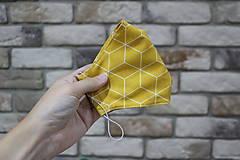Rúška - Žlté vzorované rúško - 12857558_