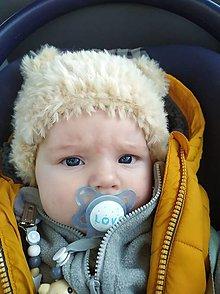 Detské čiapky - Detská čiapka-macík - 12858820_