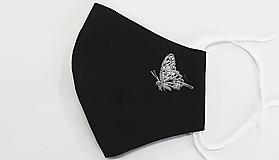 Rúška - rúško čierne - motýľ - 12762233_