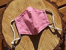 Rúška - rúško veľkosť XS bodka na ružovom - 12857079_