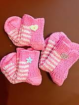 Obuv - Detské ponožky 22 - 12859075_