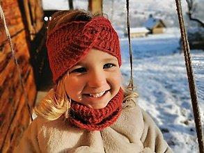 Detské čiapky - Čelenka twist - neskutočne hrejivá alpaka - 12859233_