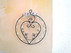 Dekorácie - Srdiečko v kruhu - 12855538_