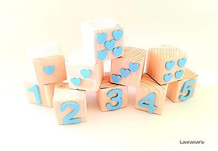Hračky - Drevené kocky Genius matematicus - 12862932_