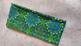 Ozdoby do vlasov - Zeleno-modrý kaleidoskop, bavlnená čelenka - 12860750_