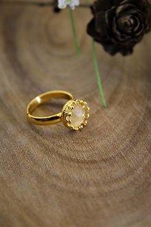 Prstene - citrínový prsteň v pozlátenom striebre - 12861518_