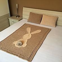 Textil - svetlo-béžový zajko : deka z Puffy Fine - 12861801_