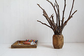 Dekorácie - Váza z dubového dreva - 12863480_