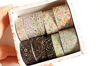 "Papier - Washi Set /10pcs ""na lúke"" goldish - 12860697_"