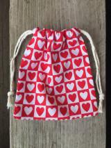 Úžitkový textil - vrecúško srdiečka - 12860865_