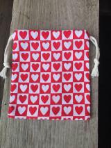 Úžitkový textil - vrecúško srdiečka - 12860866_