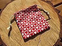 Úžitkový textil - vrecúško srdiečka - 12860872_