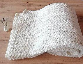 Úžitkový textil - Háčkovaná deka - 12863119_