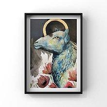 Obrazy - Originálna maľba-Čierna ovca - 12860150_