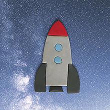 Magnetky - Magnetka čo vesmírom lieta (raketa) - 12861999_