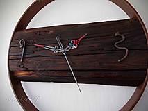 Hodiny - hodiny nástenné rustikálno-industry - 12866169_