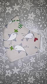 Rúška - Dámske rúško Vtáčiky s antibakteriálnou bavlnou - 12867384_