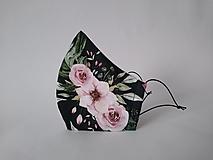 Rúška - VÝPREDAJ dámske dizajnové rúško prémiová bavlna antibakteriálne s časticami striebra dvojvrstvové tvarované - 12863659_