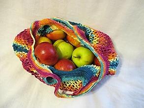 Nákupné tašky - Sieťovka v jesenných farbách - 12864423_